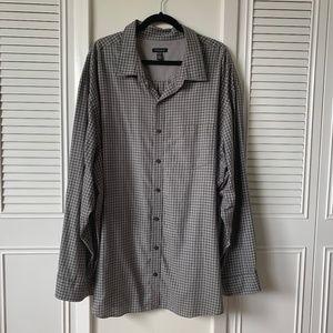 Men's 4XL Checkered Long Sleeve Casual Shirt